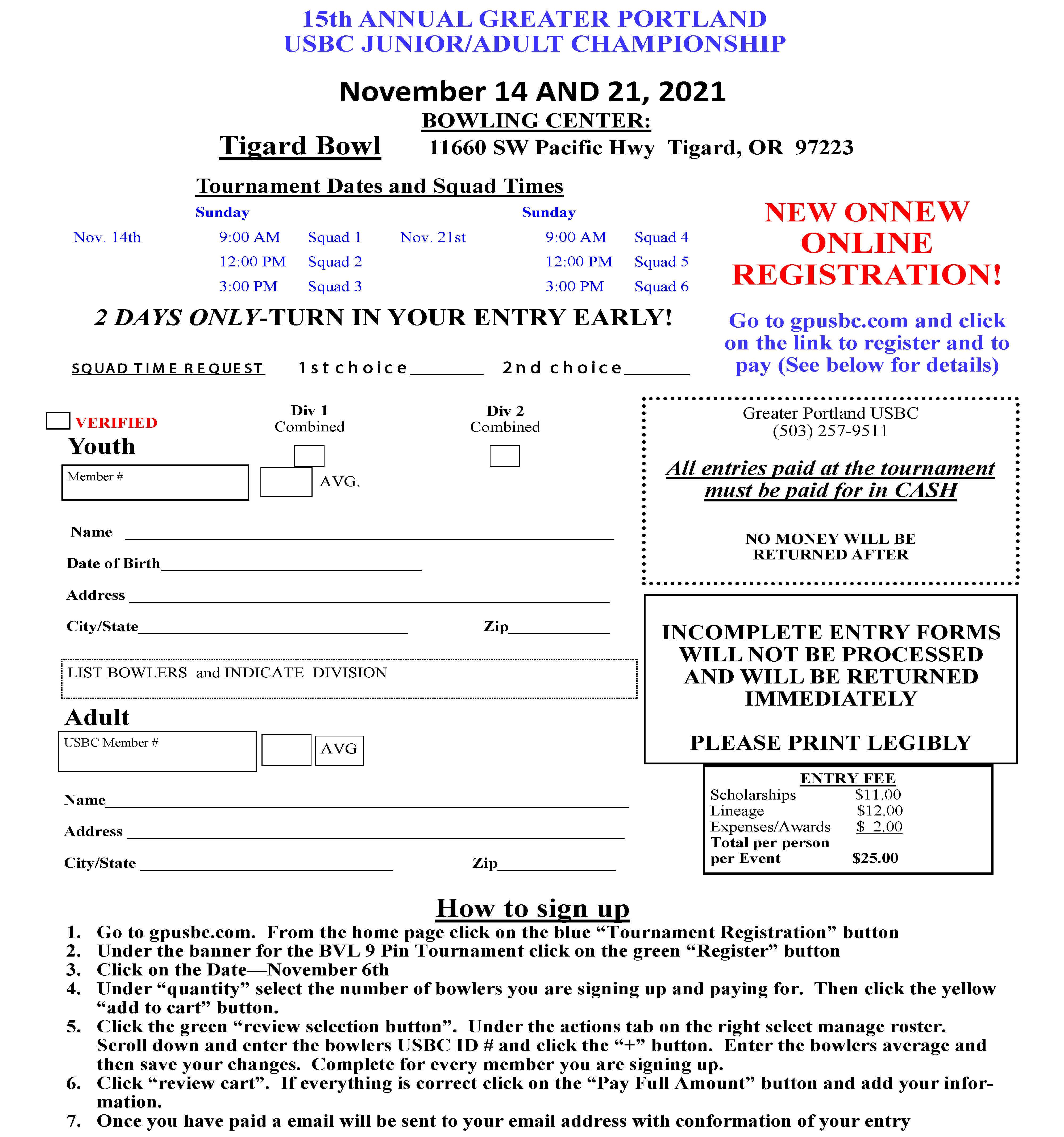 GPUSBC Junior/Adult Championship
