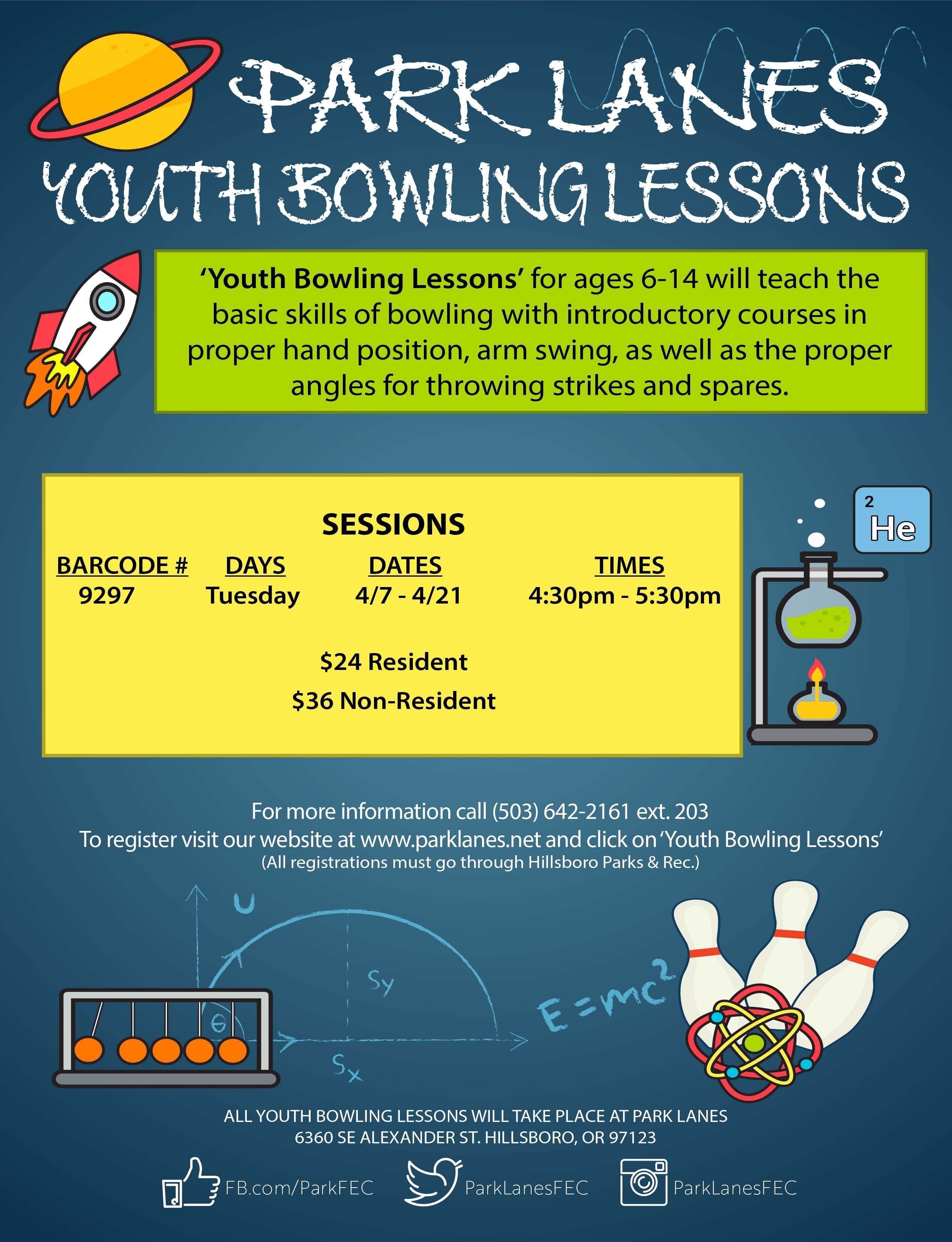 youth bowling flier