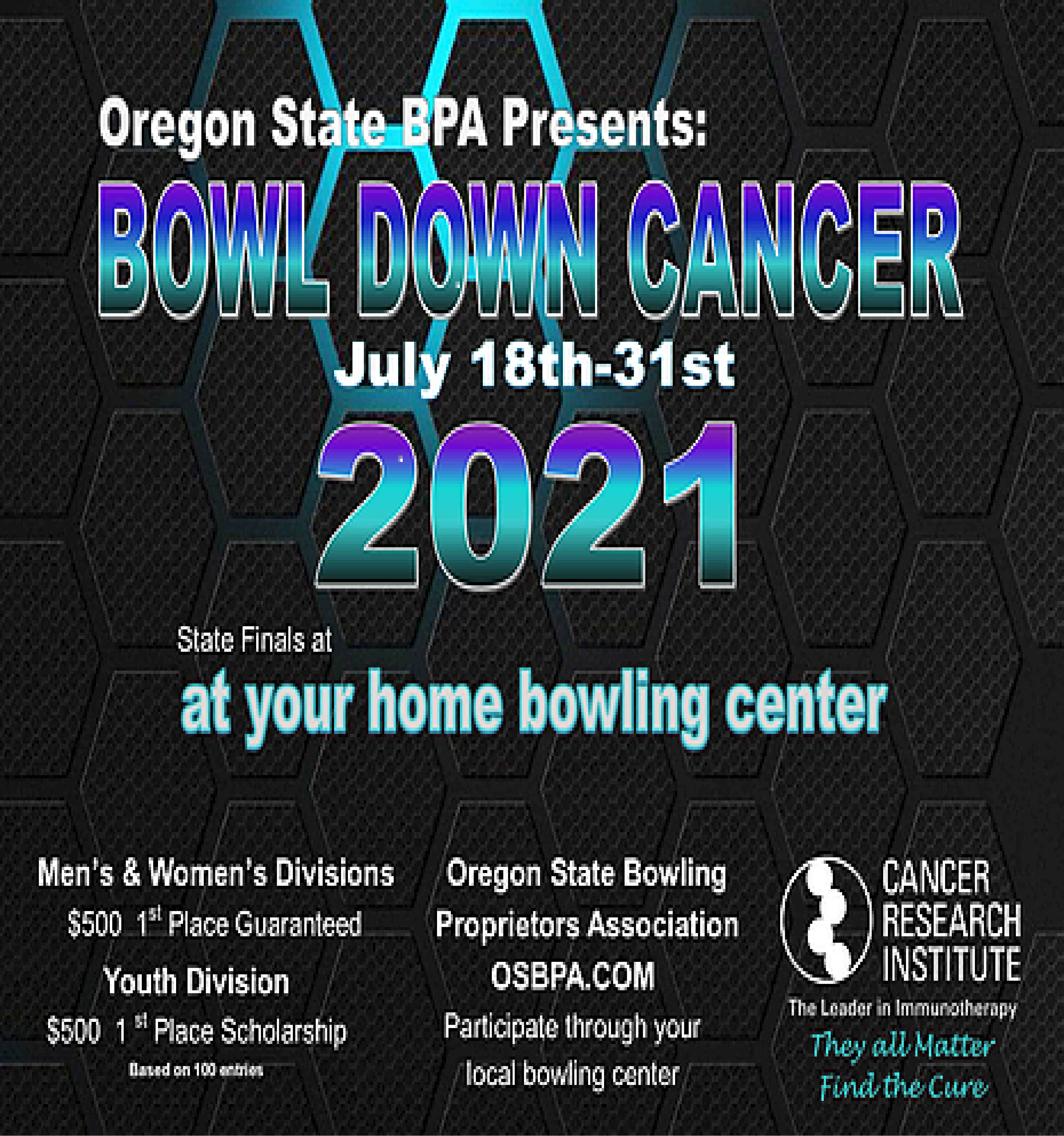 Bowl down cancer state tournament information