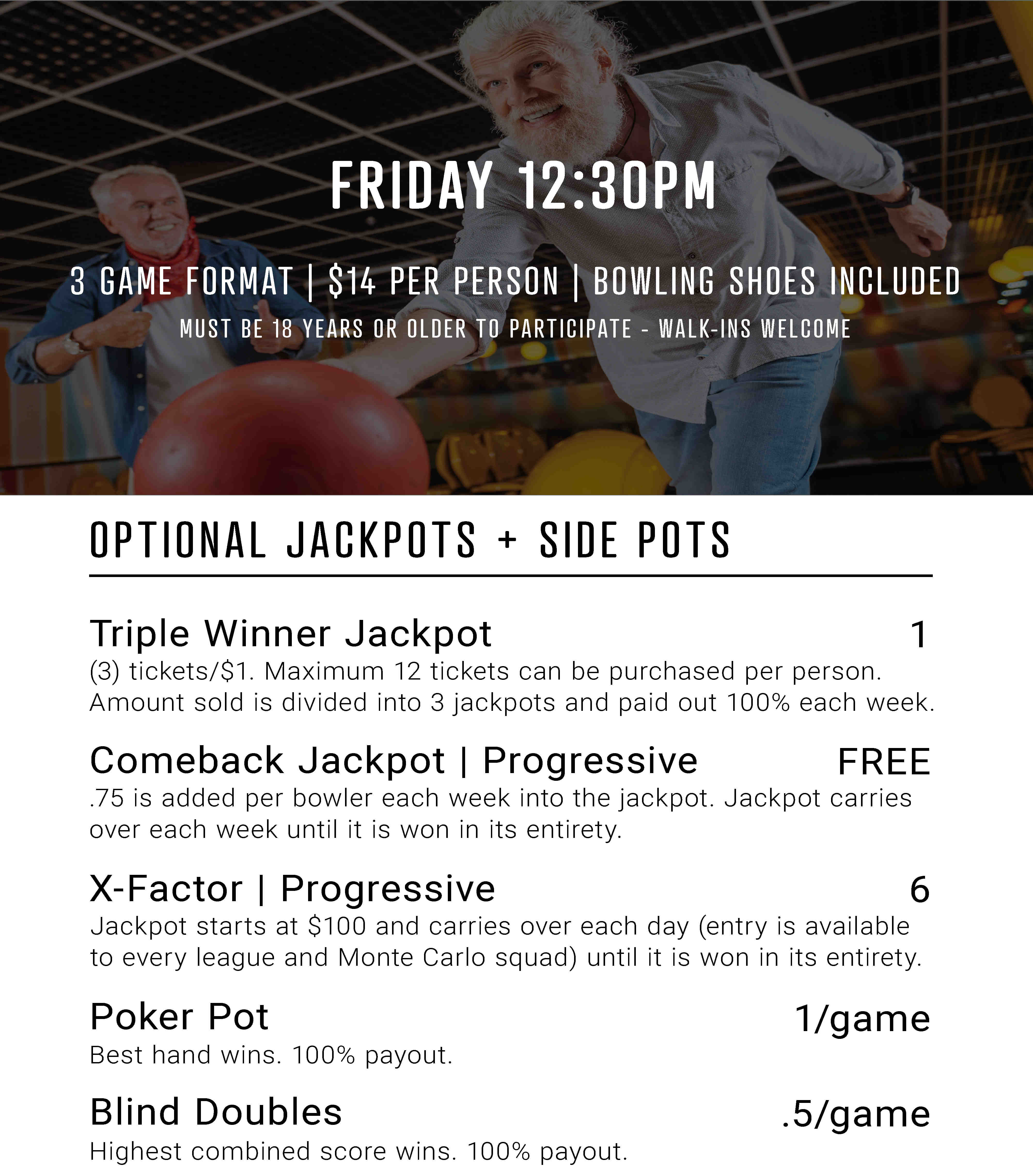Friday afternoon monte carlo information