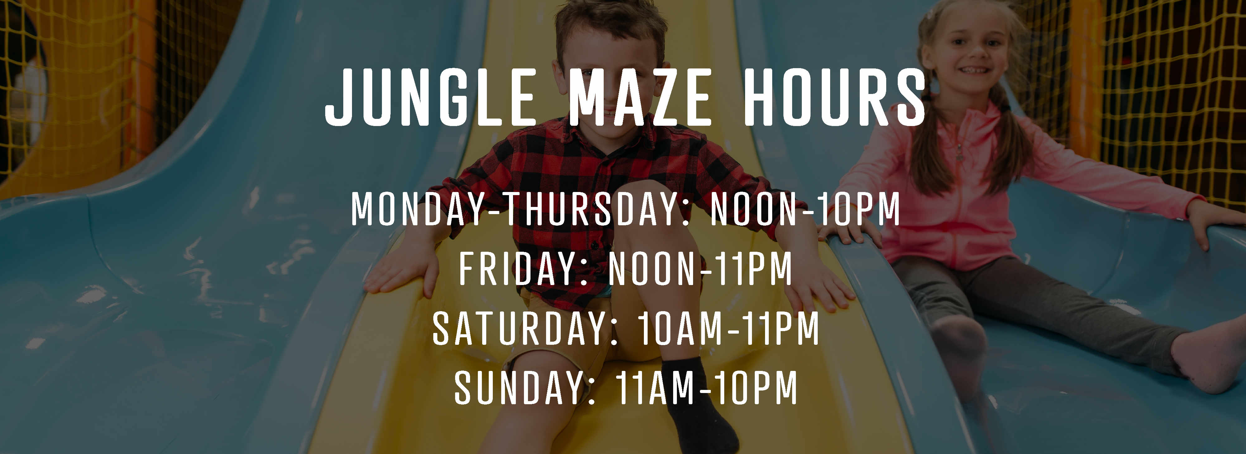 Jungle maze play structure hours of operation
