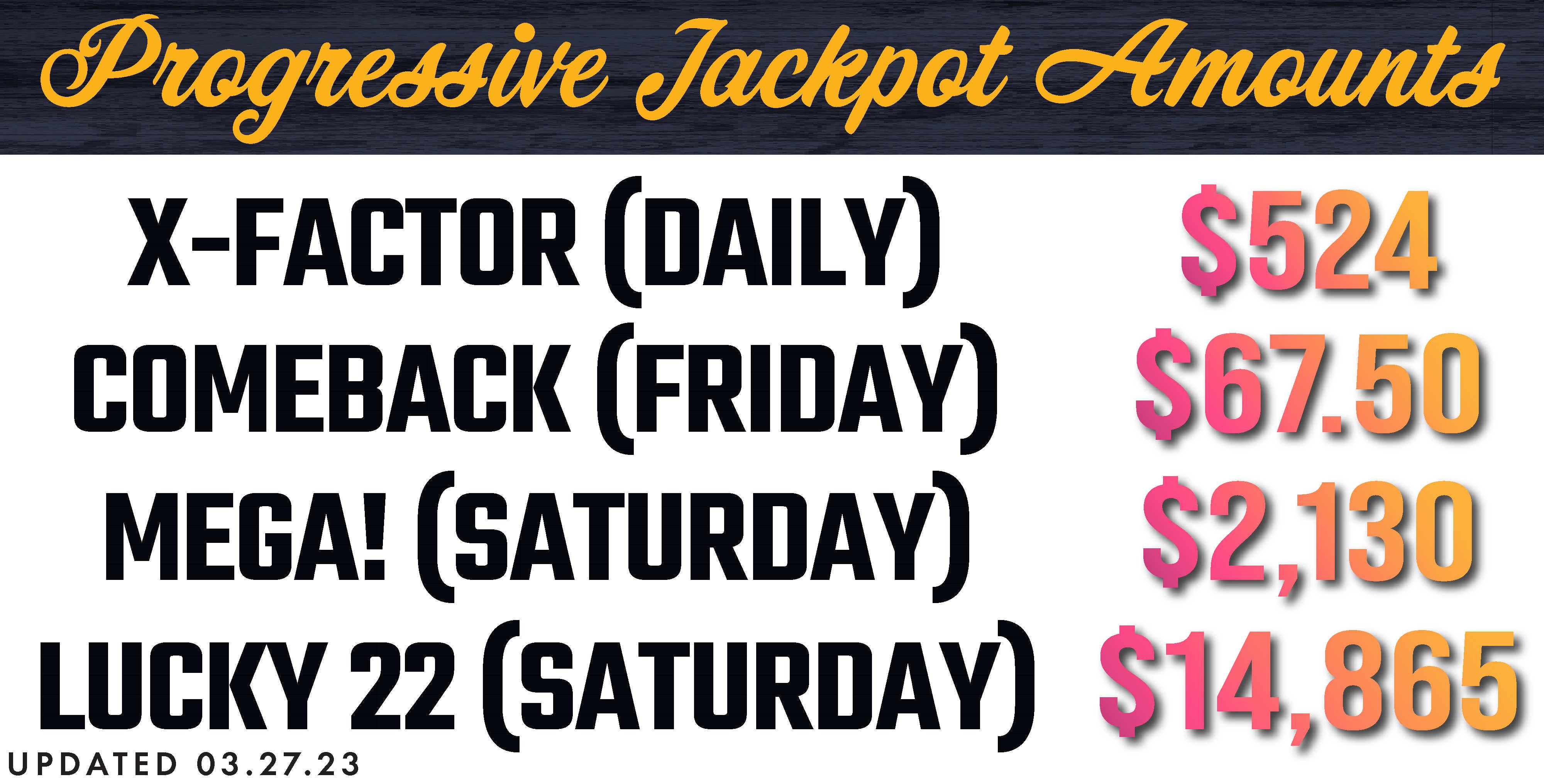 Monte carlo progressive jackpot amounts